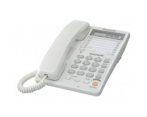 Panasonic KX-TS2365RUW (белый) 16-зн ЖКД, однокноп.набор 20 ном., автодозвон, спикерфон