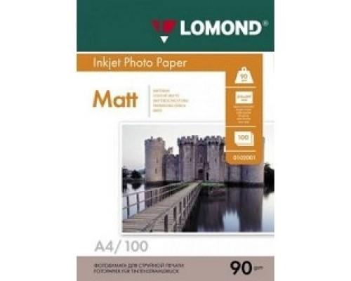 LOMOND 0102001 Матовая бумага 1х A4, 90г/м2, 100 листов