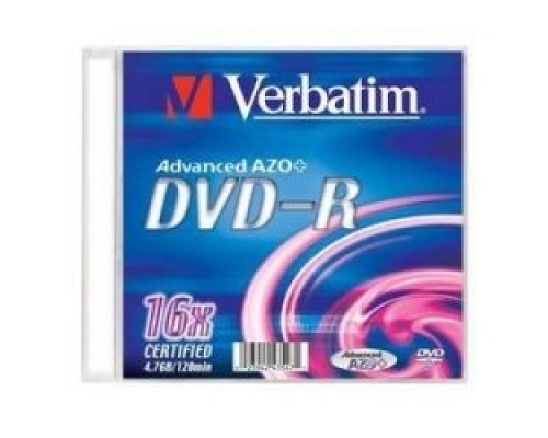Verbatim Диски DVD-R Verbatim 16-x, 4.7 Gb, (Slim Case) 43547
