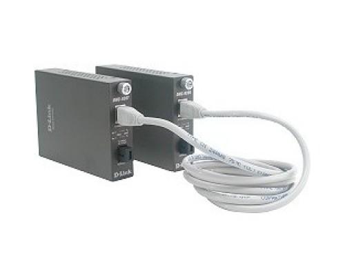 D-Link DMC-920T/B10A WDM медиаконвертер с 1 портом 10/100Base-TX и 1 портом 100Base-FX с разъемом SC (ТХ: 1550 нм; RX: 1310 нм) для одномодового оптического кабеля (до 20 км)