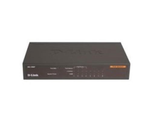 Сетевое оборудование D-Link DES-1008P/C1A Неуправляемый коммутатор с портами 10/100Base-TX