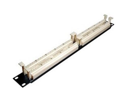 Монтажное оборудование Hyperline 110C-19-100P-1U парная кросс-панель типа,