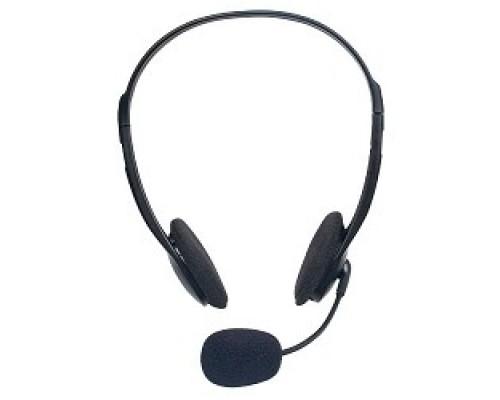 Наушники Defender HN-102 Гарнитура стерео, регулят. громк., 1.8м кабель 63102