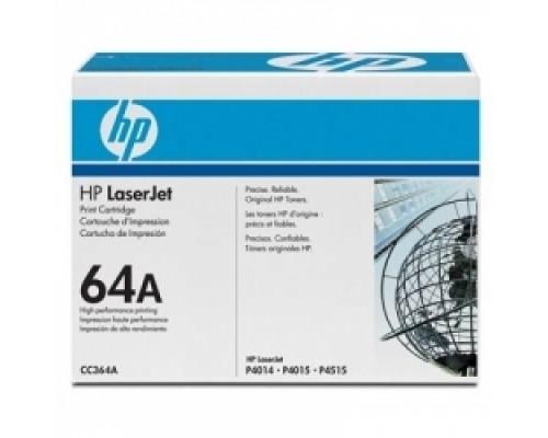 HP CC364A Картридж ,Black LJ P4014/4015/4515, Black, (10000стр.)
