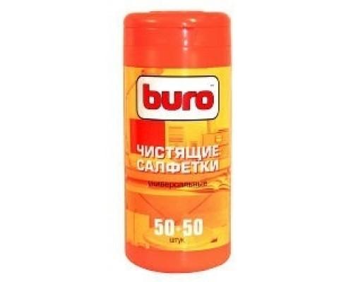 Чистящие салфетки BURO BU-Tmix 65 шт влажных+ 65 шт. сухих 817437