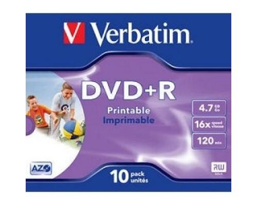 43508 и DVD+R Verbatim 16-x, 4.7 Gb, Printable (Jewel Case, 10шт.)