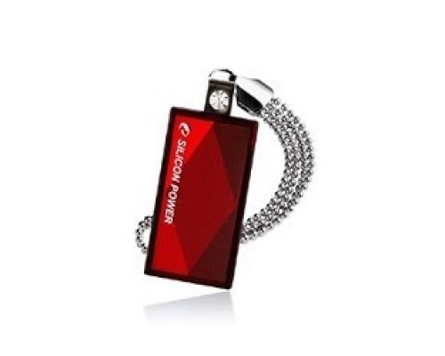 Silicon Power USB Drive 16Gb Touch 810 SP016GBUF2810V1R USB2.0, Red