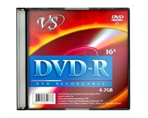 и VS DVD-R 4.7Gb, 16x, Slim Case 5шт.