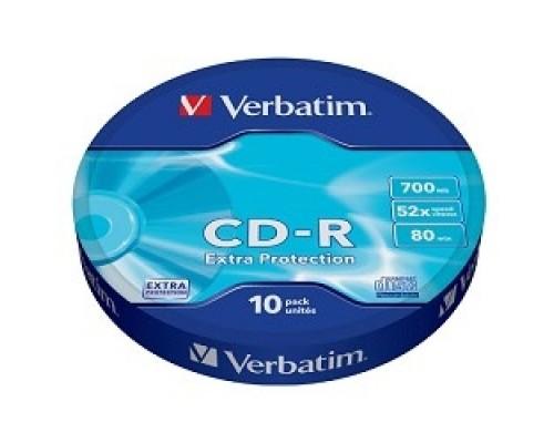 Verbatim  Диски CD-R  10шт. 52x 700Mb, Shrink (43725)