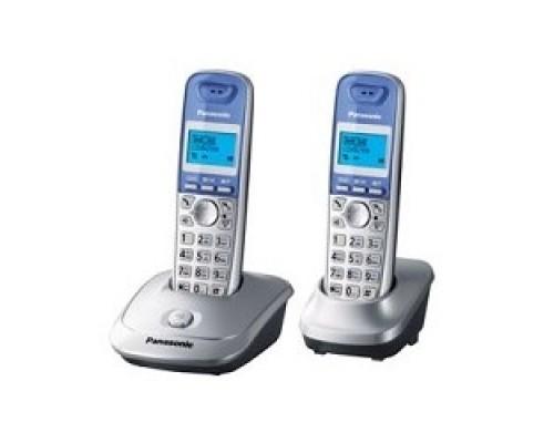 Panasonic KX-TG2512RUS (серебристый) Доп трубка в комплекте,АОН, Caller ID,спикерфон на трубке,полифония