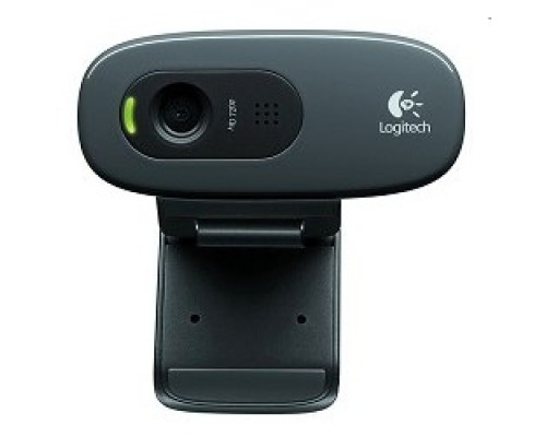 Цифровая камера 960-001063/960-000636 Logitech HD Webcam C270, USB 2.0, 1280*720, 3Mpix foto, Mic, Black