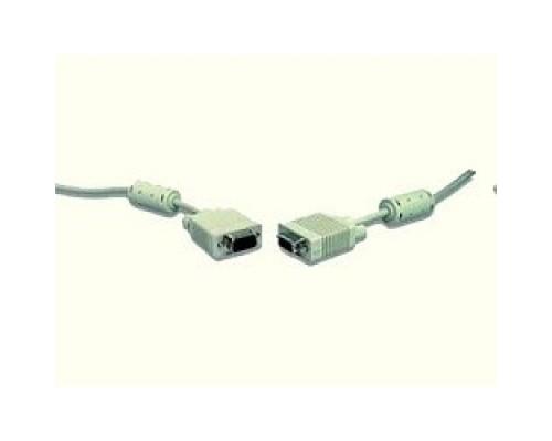 Кабель Gembird/Cablexpert CC-PPVGA-20M,Кабель Premium , 15M/15M, 20м,серый, тройной экран,феррит.кольца