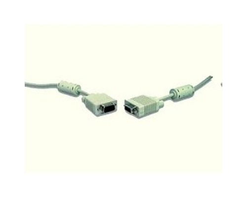 Кабель Gembird/Cablexpert CC-PPVGA-10m, Premium , 15M/15M, 10м, серый, тройной экран, феррит.кольца