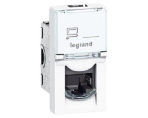 Legrand 076551 РОЗЕТКА RJ 45 - ПРОГРАММА MOSAIC - КАТЕГОРИЯ 5Е - UTP 8 контактов - 1 МОДУЛЬ - БЕЛЫЙ - LCS2