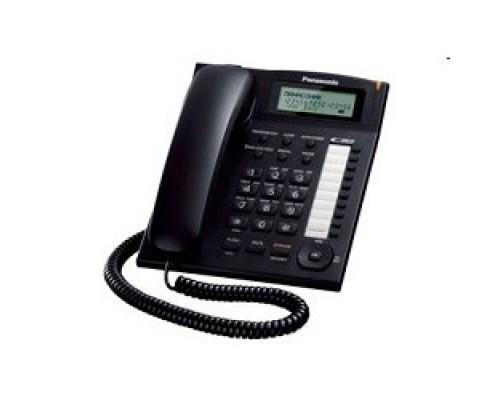 Panasonic KX-TS2388RUB (черный) индикатор вызова,повторный набор последнего номера,4 уровня громкости звонка