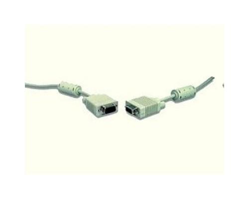Gembird/Cablexpert CC-PPVGA-10, VGA Premium 15M/15M, 3.0м, белый, тройной экран, феррит.кольца