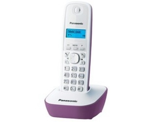 Panasonic KX-TG1611RUF (сиреневый) АОН, Caller ID,12 мелодий звонка,подсветка дисплея,поиск трубки