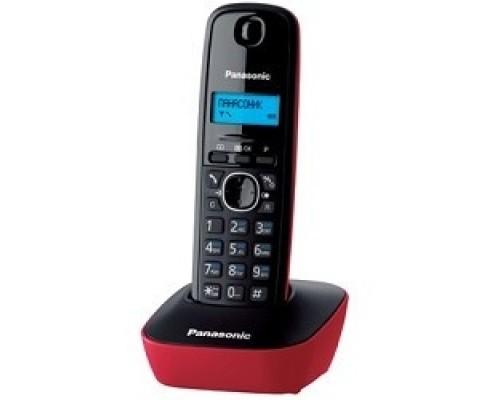 Panasonic KX-TG1611RUR (красный) АОН, Caller ID,12 мелодий звонка,подсветка дисплея,поиск трубки