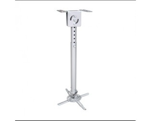 Wize WPB-S серебро Универсальное комплект для проектора, длина штанги 44-64 см, наклон +/- 15°, поворот +/- 15°, до 12 кг, 260х260