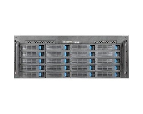 Procase ES420-SATA3-B-0 4U 20 SATAII/SAS hotswap HDD, глубина 650мм, MB 12x13, без Б/П,черный