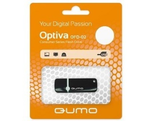 Носитель информации USB 2.0 QUMO 8GB Optiva 02 Black QM8GUD-OP2-black