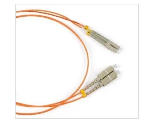 Hyperline FC-50-LC-SC-PC-3M волоконно-оптический (шнур) MM 50/125, LC-SC, duplex, LSZH, 3 м FC-D2-50-LC/PR-SC/PR-H-3M-LSZH-OR