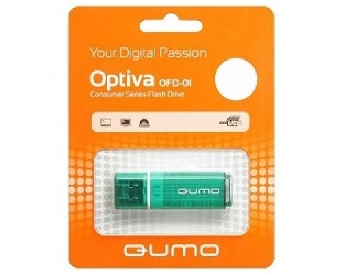 Носитель информации USB 2.0 QUMO 16GB Optiva 01 Green QM16GUD-OP1-green