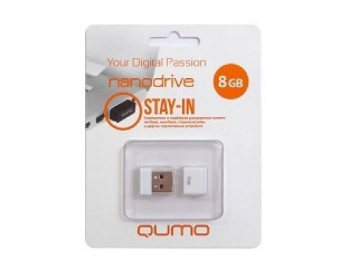 Носитель информации USB 2.0 QUMO 8GB NANO QM8GUD-NANO-W White