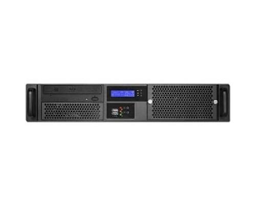 Procase GM238-B-0 черный, 2U глубина 380мм, MB 9.6x9.6, без Б/П