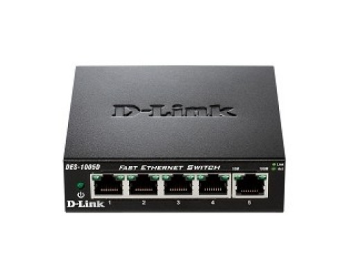 Сетевое оборудование D-Link DES-1005D/O2B Неуправляемый коммутатор с портами 10/100BASE-TX