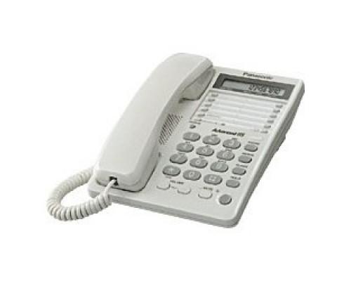 Panasonic KX-TS2362RUW (белый) 16зн ЖКД, однокноп.набор 20 ном.