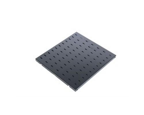 ЦМО Полка перфорированная грузоподъёмностью 100 кг., глубина 750 мм, цвет черный (СВ-75У-9005)