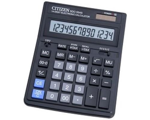 Калькулятор Citizen SDC-554S черный 14 разрядный