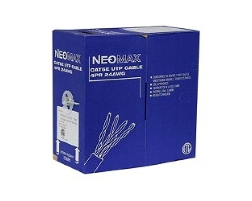 NEOMAX NM13001 Кабель UTP cat.5e 4 пары (305 м) 7/0.18 мм гибкий многожильный Медь PVC jacket