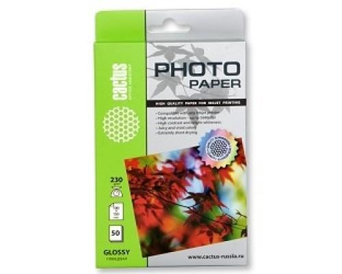 Бумага CACTUS GA623050 Фотобумага Cactus CS-GA623050 глянцевая, 10x15, г/м2, листов