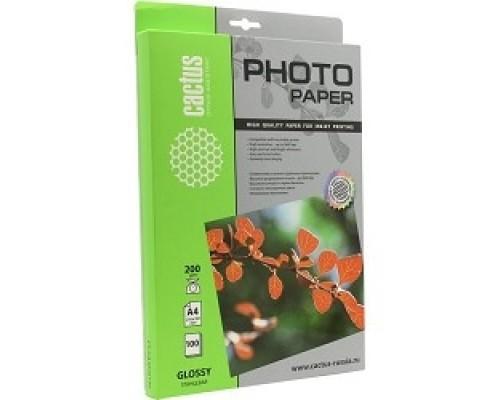 Бумага CS-GA4200100 Фотобумага Cactus глянцевая, А4, г/м2, листов