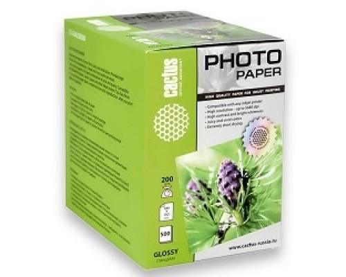 Бумага CACTUS CS-GA6200500 Фотобумага Cactus глянцевая, 10x15, г/м2, листов.