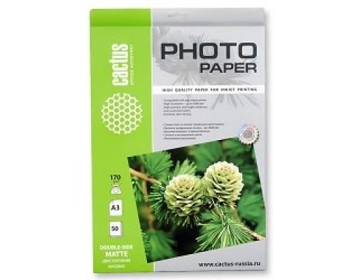 Бумага Cactus CS-MA317050DS Фотобумага матовая двухсторонняя А3 г/м2 листов