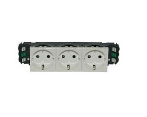Legrand 077403 Розетка 3 х 2К+3 - Программа Mosaic - для установки в кабель-канале - автоматические клеммы - стандартная