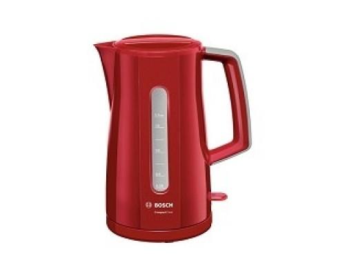 Чайник Bosch TWK3A014 красный, 2400Вт, 1,7 л