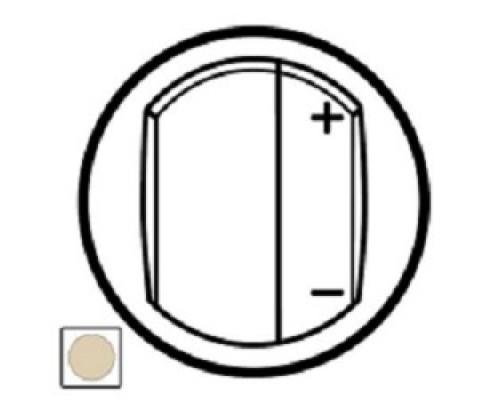 Розетки, выключатели аксессуары Legrand 66250 Лицевая панель Celiane для светорегулятора, слоновая кость