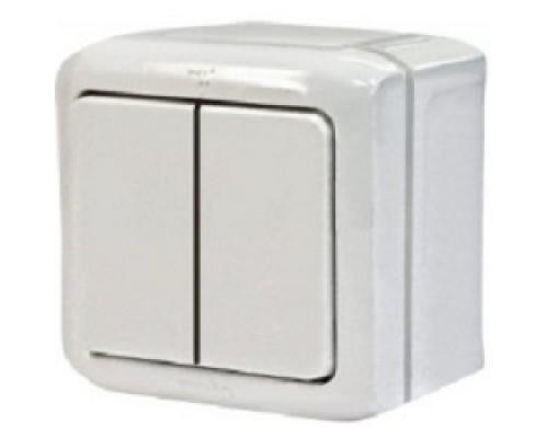 Legrand 782302 Выключатель двухклавишный Quteo IP44 (Белый)