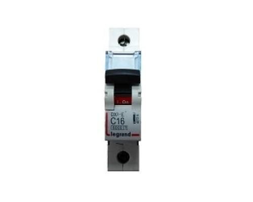 Legrand 407263 Автоматический выключатель DX3-E 6000 - 6 кА - тип характеристики C - 1П - 230/400 В~ - 16 А - 1 модуль