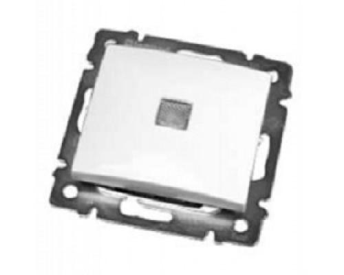 Legrand 774410 Выключатель Valena одноклавишный с подсветкой белый