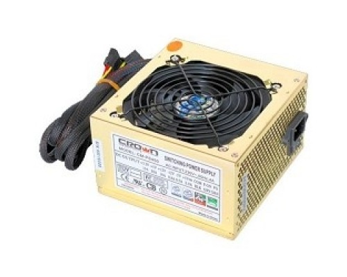 CROWN Блок питания CM-PS450W smart (20+4in, 120mm FAN, SATA*2, PATA(big Molex)*4, FDD*1, 4+4pin, Lines 1x12V OEM)