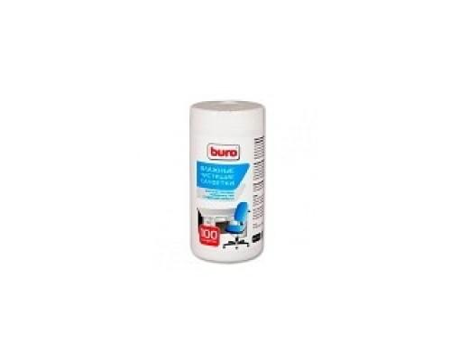 Туба с чистящими салфетками BURO BU-TSURL, для поверхностей и офисной мебели, 100 шт. 817442