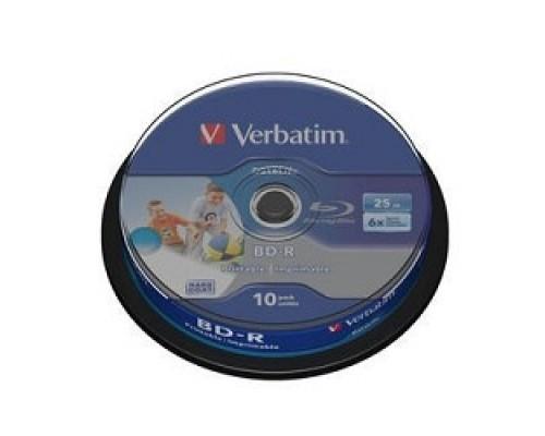 VERBATIM BD-R 25 GB 6x CB/10 Full Ink Print NO ID (43804)