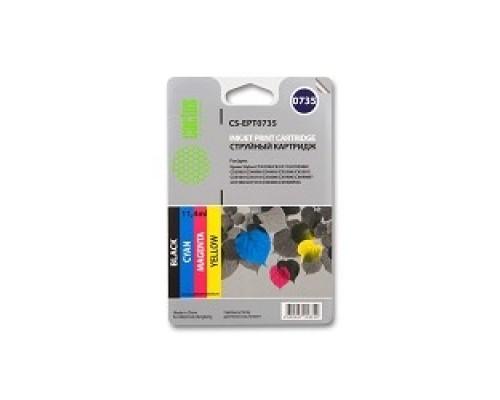Расходные материалы CACTUS EPT0735 Комплект картриджей для Epson Stylus С79/C110/СХ3900/CX4900, черный/голубой/пурпурный/желтый, картриджа по 11мл,
