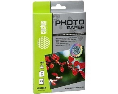 Бумага CACTUS GA618025 Фотобумага Cactus CS-GA618025 глянцевая, 10x15, г/м2, листов