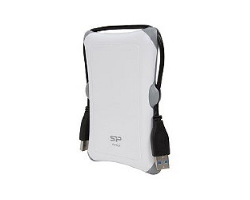 Silicon Power Portable HDD 1Tb Armor A30 SP010TBPHDA30S3W USB3.0, 2.5, Shockproof, white